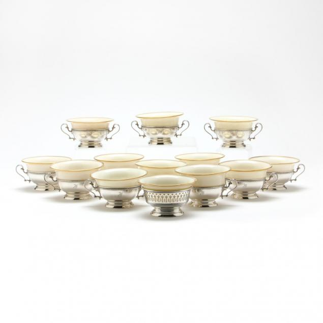 thirteen-sterling-silver-boullion-soup-bowls