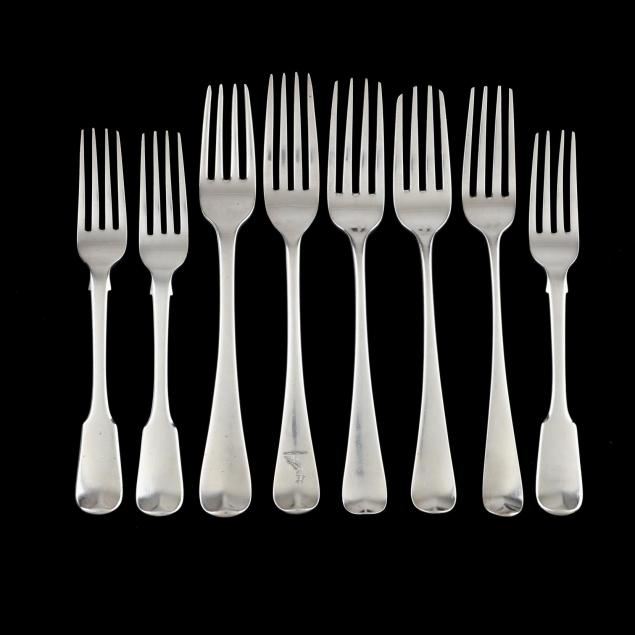 eight-georgian-silver-forks