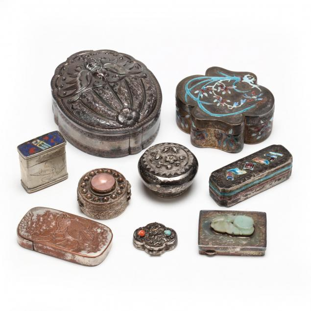 collection-of-nine-chinese-and-japanese-silver-boxes