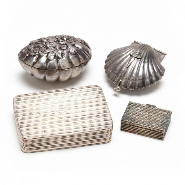 four-antique-continental-silver-boxes