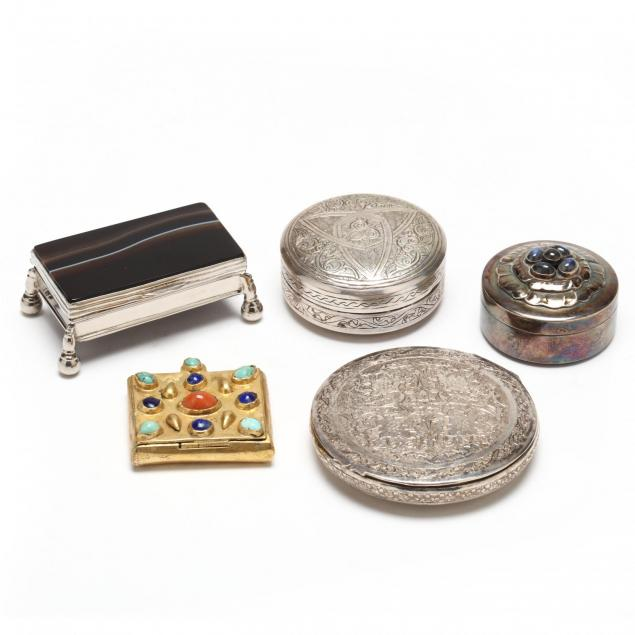five-20th-century-silver-boxes