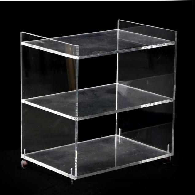 lucite-serving-cart