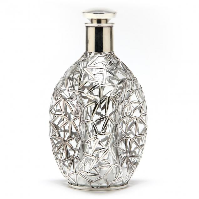 chinese-silver-overlay-pinch-bottle-decanter