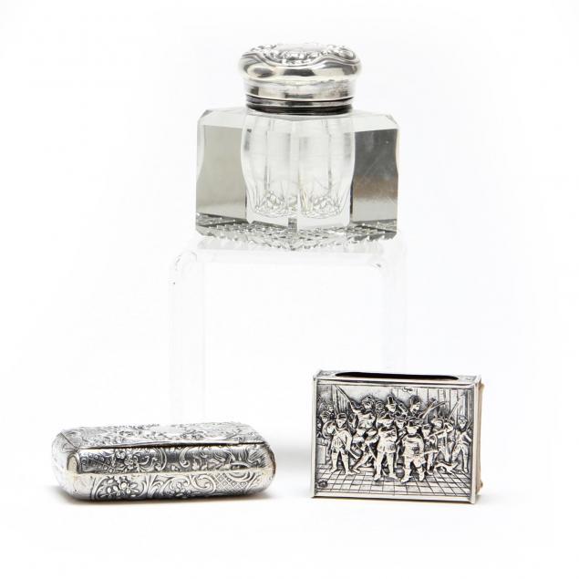 three-antique-silver-desk-accessories