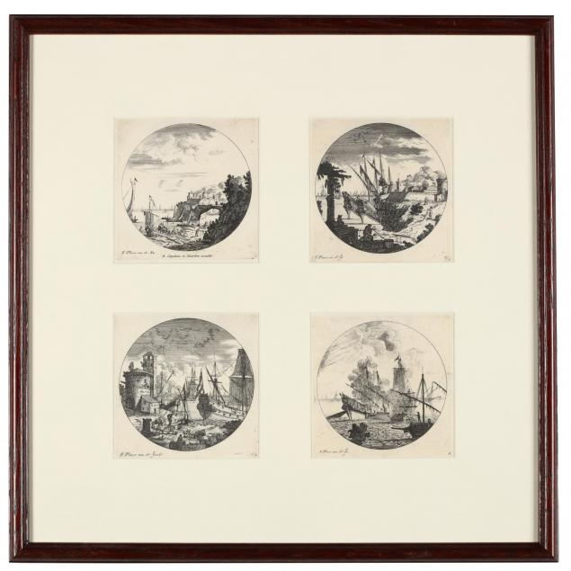 francis-place-british-1647-1728-four-framed-views-of-seaports
