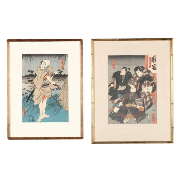 two-woodblock-prints-by-utagawa-kunisada-japanese-1786-1864