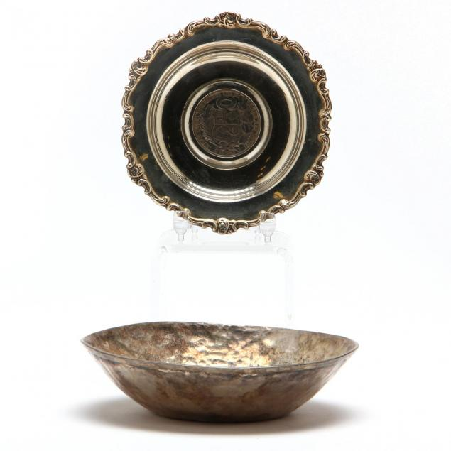 two-small-peruvian-sterling-silver-dishes