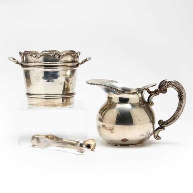 a-peruvian-sterling-silver-ice-bucket-pitcher-and-tongs