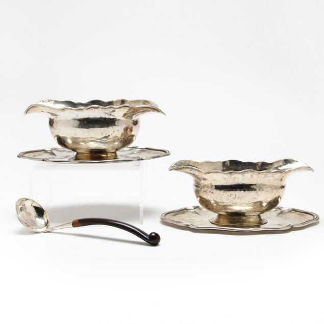 pair-of-peruvian-silver-sauce-boats-with-ladle