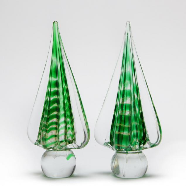 pair-of-murano-glass-trees