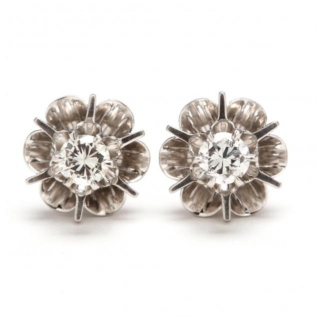pair-of-14kt-white-gold-diamond-earrings