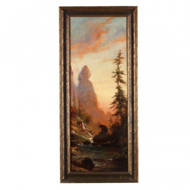 edward-hill-american-1843-1923-western-landscape-with-bear