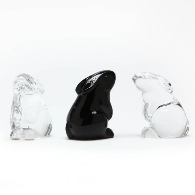 three-baccarat-crystal-rabbits