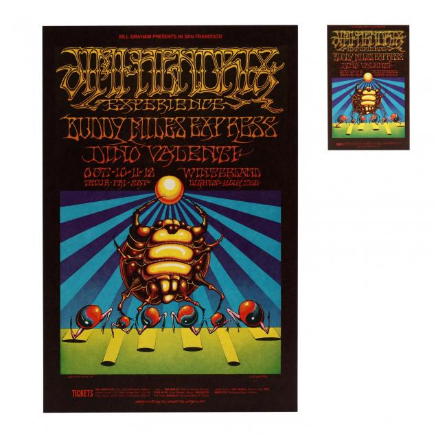 jimi-hendrix-experience-buddy-miles-express-winterland-concert-poster-with-postcard-bill-graham-1968