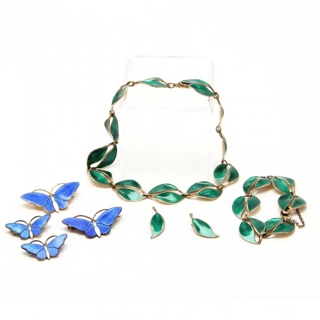 norwegian-jewelry-vermeil-and-enamel