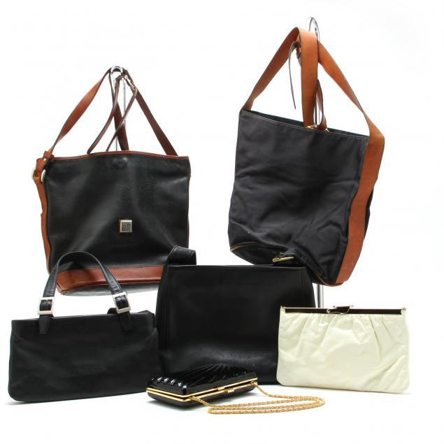 a-group-of-six-vintage-handbags