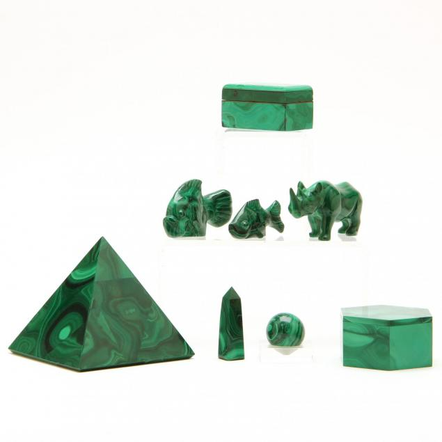 eight-malachite-objects