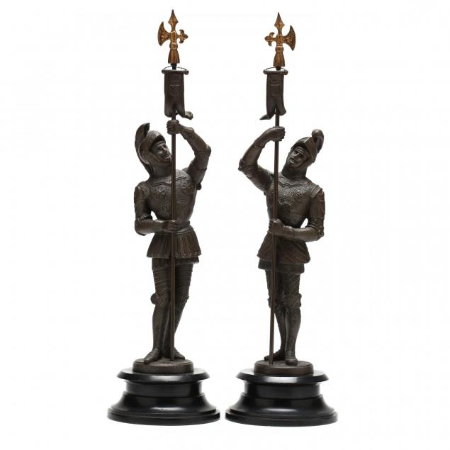 pair-of-spelter-sculptures-of-knights