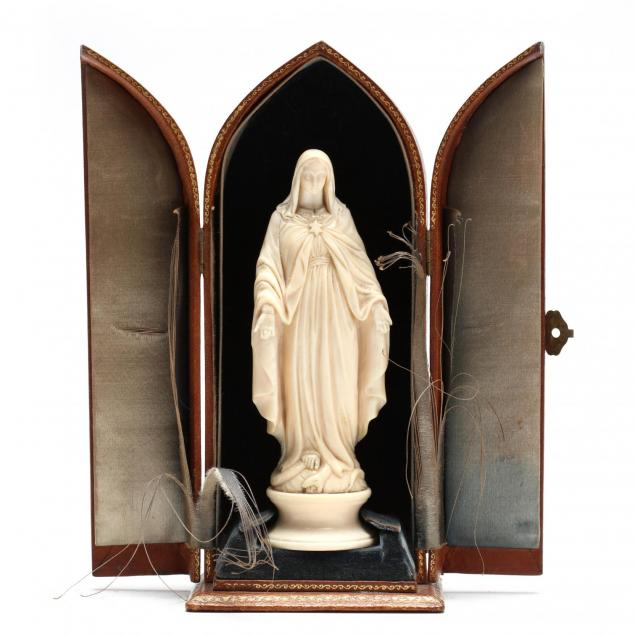 carved-ivory-statue-of-the-virgin-mary