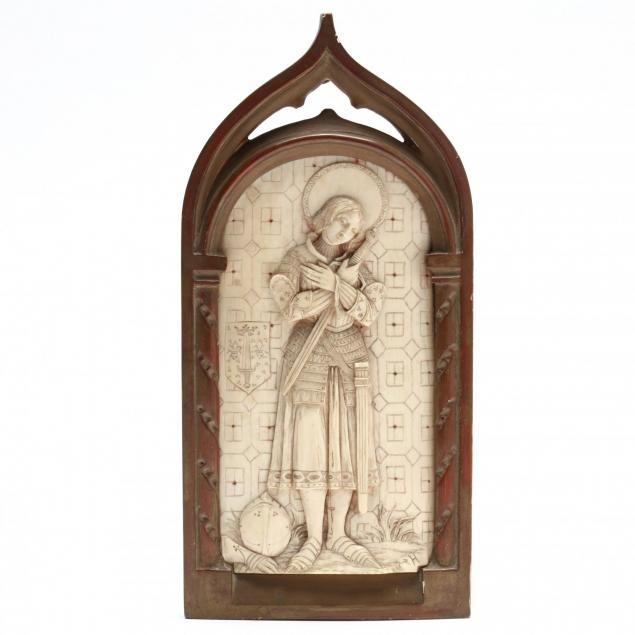 carved-ivory-plaque-of-joan-of-arc