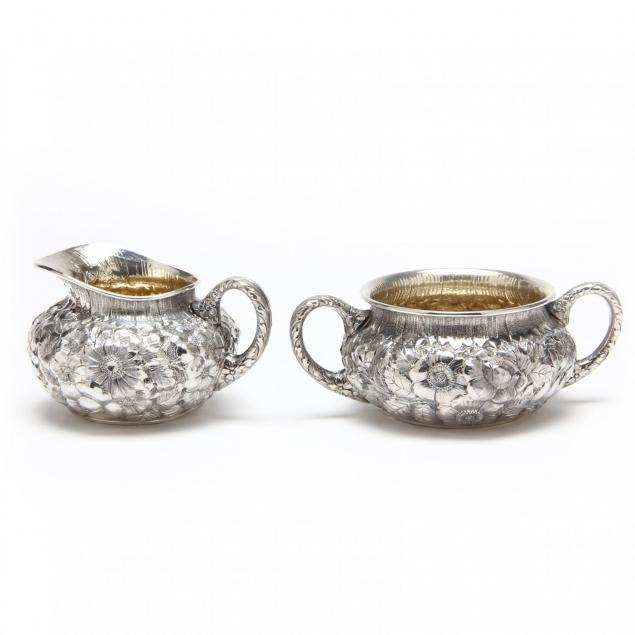 a-wood-hughes-repousse-sterling-silver-creamer-sugar-set