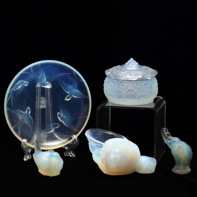 group-of-vintage-sabino-glass
