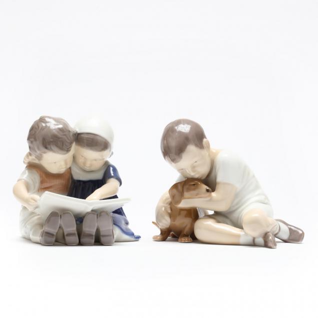 bing-grondahl-two-porcelain-figures