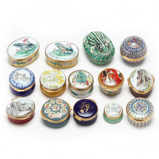 group-of-14-enameled-boxes