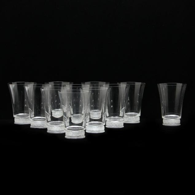 set-of-eleven-lalique-crystal-tumblers