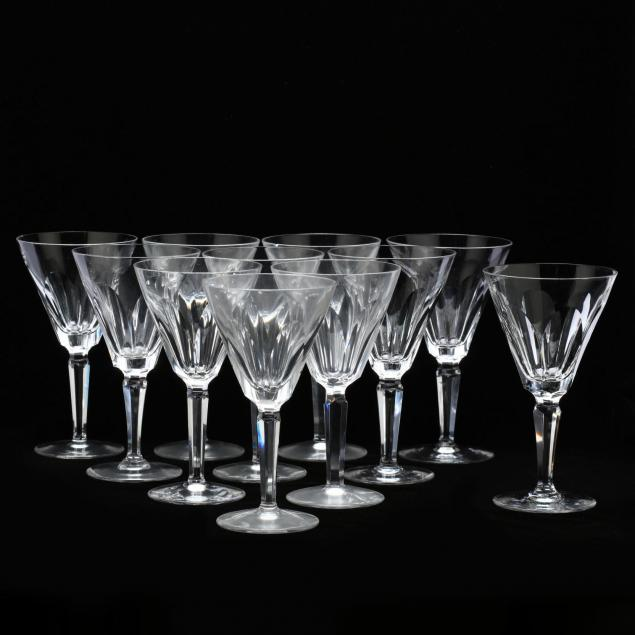 waterford-crystal-set-of-eleven-water-goblets