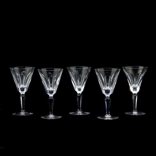 waterford-crystal-set-of-five-dessert-wine-stems