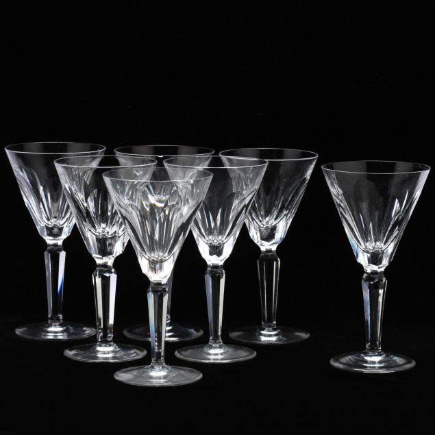 waterford-crystal-set-of-seven-white-wine-stems