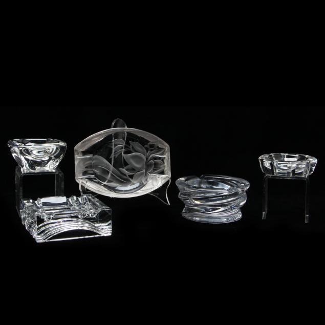 five-crystal-ashtrays