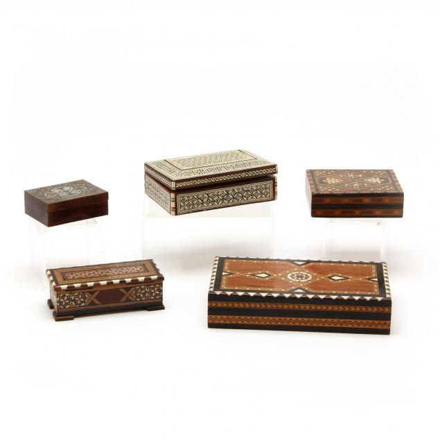 five-vintage-inlaid-boxes