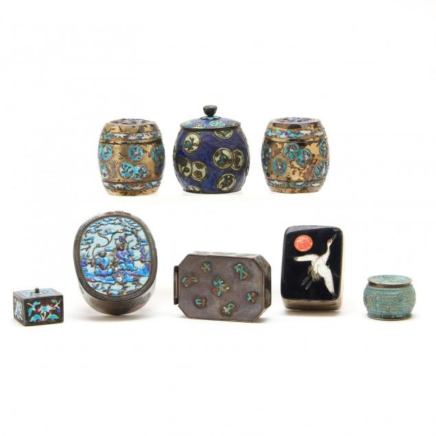 eight-fine-chinese-silver-boxes