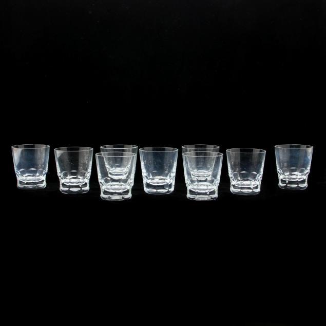 set-of-nine-baccarat-glass-tumblers
