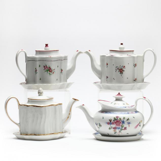 four-antique-new-hall-teapots