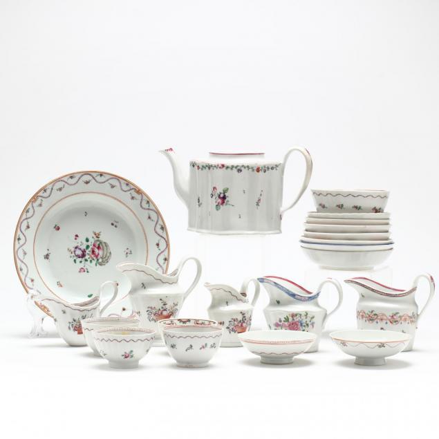 21pc-antique-new-hall-porcelain