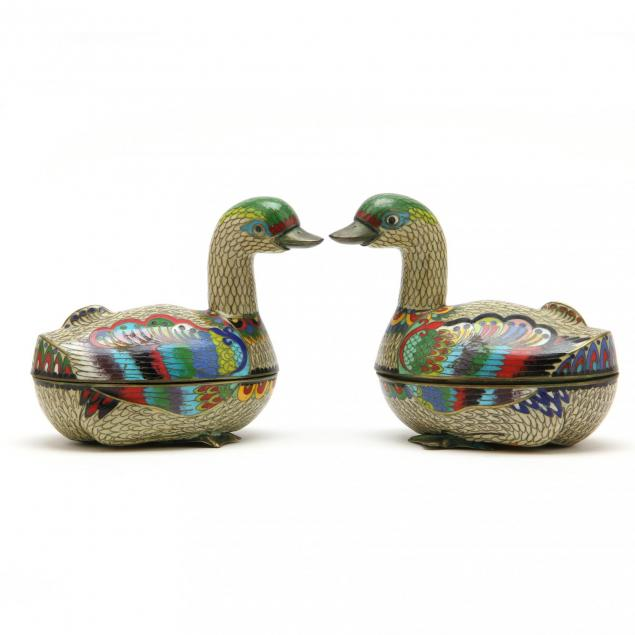 pair-of-cloisonne-duck-boxes