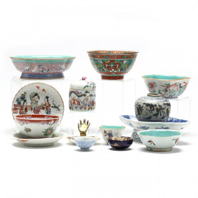 group-of-asian-porcelains