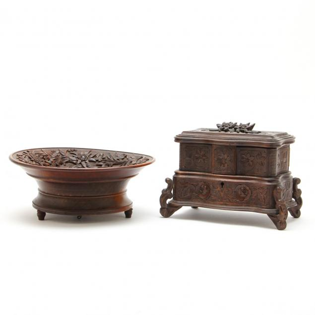black-forest-carved-jewelry-casket-and-musical-bowl