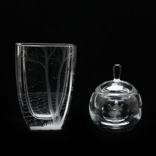 two-pieces-of-swedish-engraved-glass