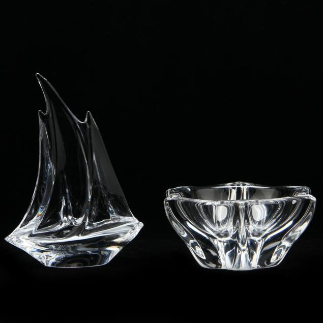 daum-crystal-boat-and-bowl