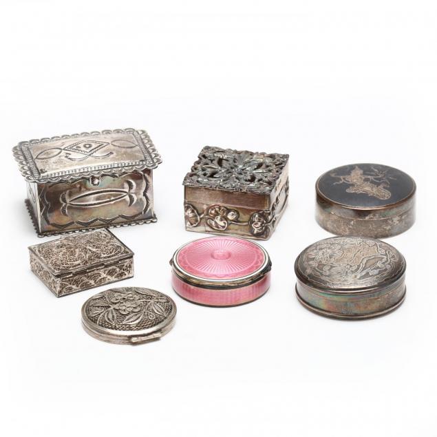 seven-vintage-silver-boxes