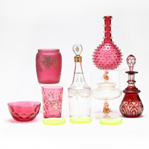 group-of-vintage-glass