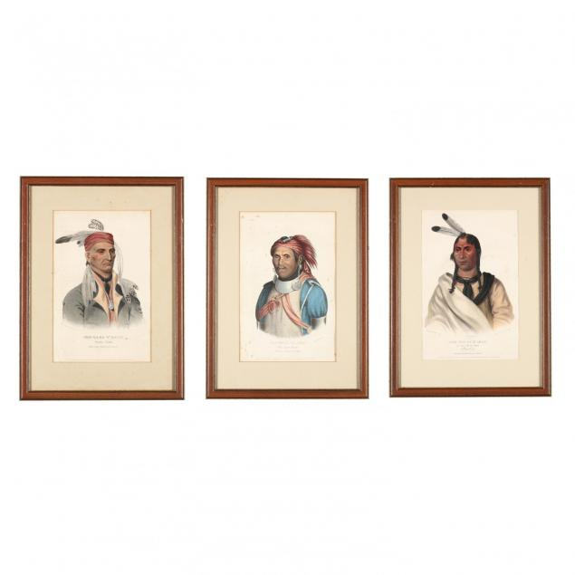 three-mckenney-hall-indian-lithographs