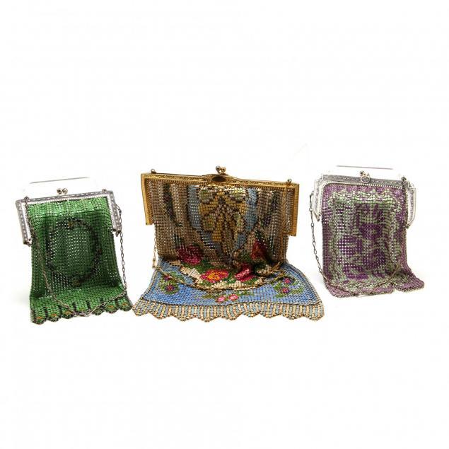 three-antique-mesh-bags