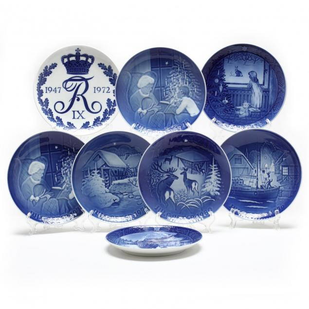 eight-royal-copenhagen-cabinet-plates