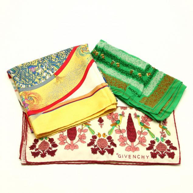three-french-silk-scarves