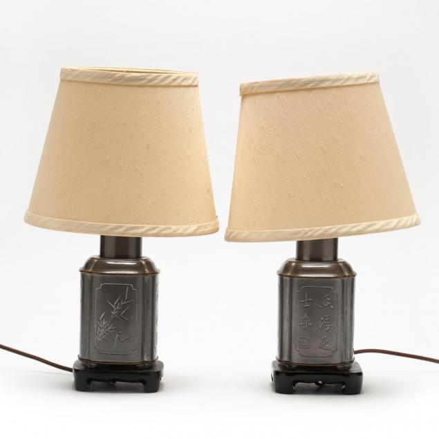 pair-of-chinese-pewter-tea-caddy-boudoir-lamps